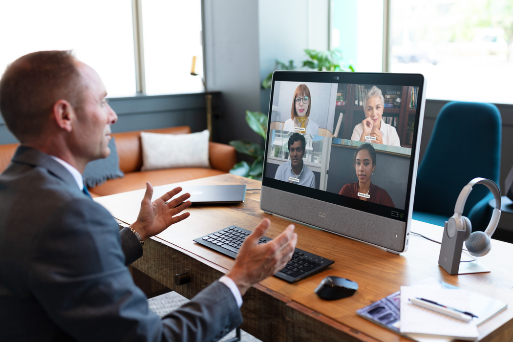 Image of a virtual meeting